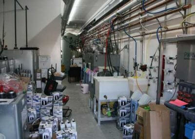 Equipment Room shared with Quick Lube Equipment on the Left and Car Wash Equipment on the Right