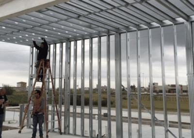 Installing the framing panels