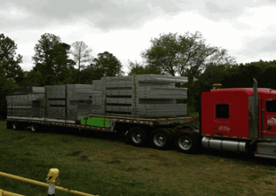 Framing Panels Loaded on a Truck for Transport to Job Site
